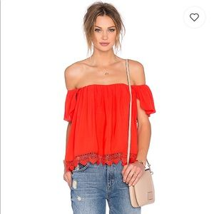 LOVERS + FRIENDS Life's A Beach Off Shoulder Top